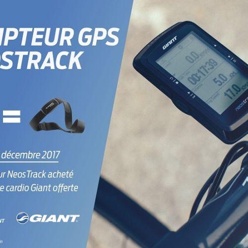 Un compteur GIANT GPS NEOSTRACK acheté = Une ceinture cardio OFFERTE