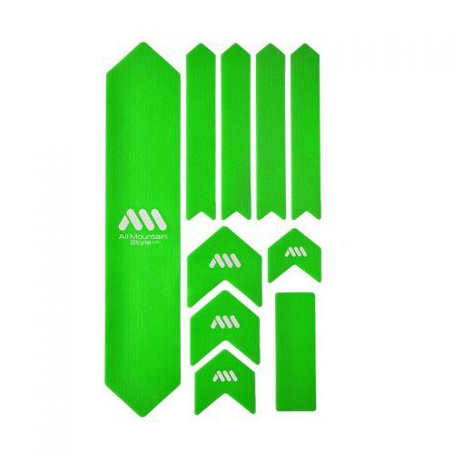 Kit Protection De Cadre All Mountain Style Xl - 10 Pièces - Vert/Blanc
