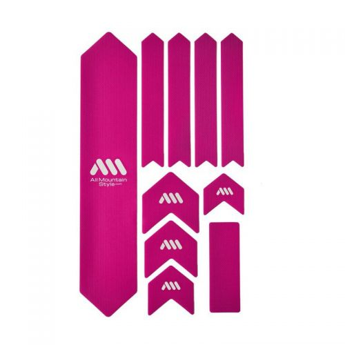 Kit Protection De Cadre All Mountain Style Xl - 10 Pièces - Magenta/Blanc
