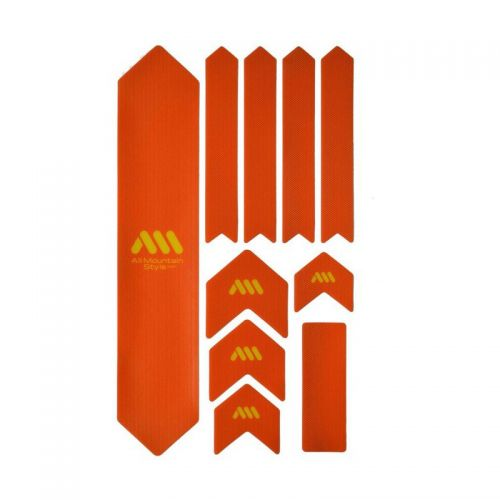 Kit Protection De Cadre All Mountain Style Xl - 10 Pièces - Orange/Jaune