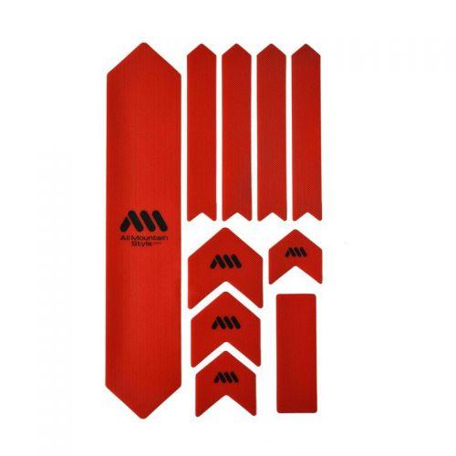 Kit Protection De Cadre All Mountain Style Xl - 10 Pièces - Rouge