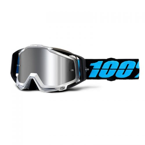 Masque 100% Racecraft Plus - Daffed - Ecran Injecté Miroir Flash Argent