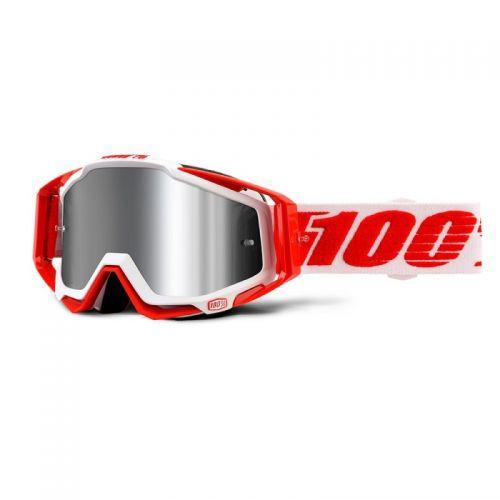 Masque 100% Racecraft Plus - Bilal - Ecran Injecté Miroir Flash Argent