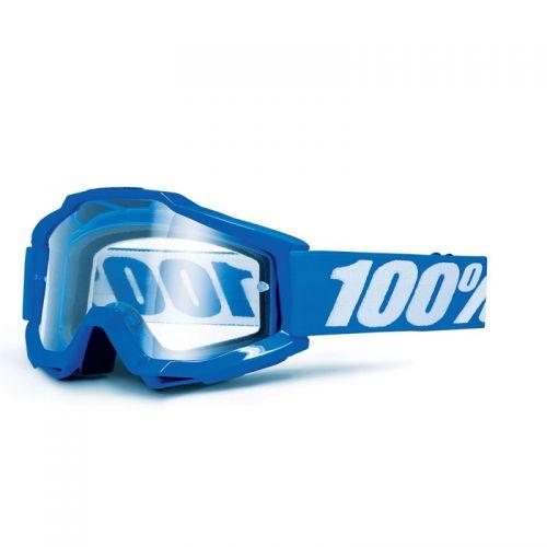 Masque 100% Accuri Otg (Porteur De Lunettes) - Reflex Bleu - Ecran Clair