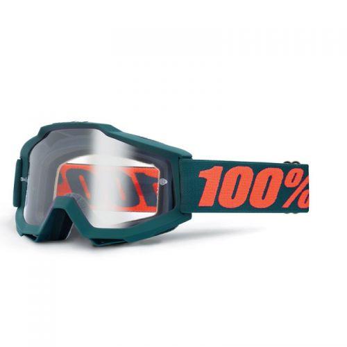 Masque 100% Accuri Otg (Porteur De Lunettes) - Gunmetal - Ecran Clair