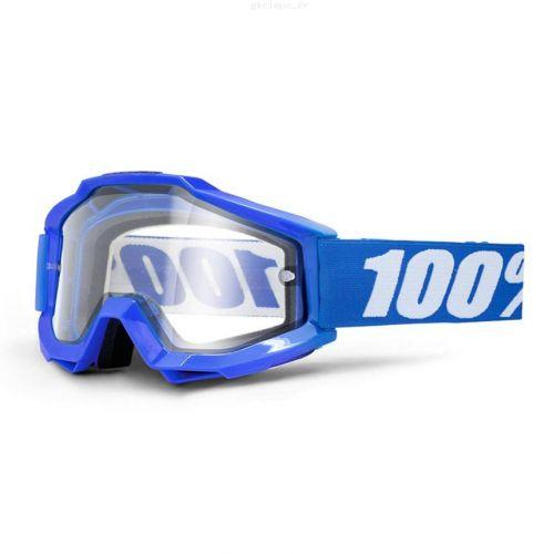 Masque 100% Accuri Enduro - Reflex Bleu - Ecran Clair Double Ventilé