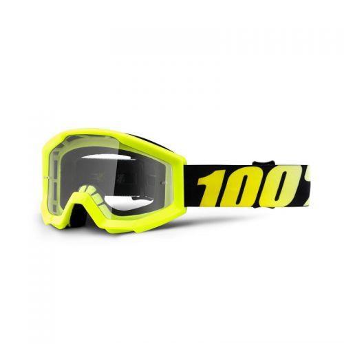 Masque 100% Strata Youth - Neon Yellow - Ecran Clair