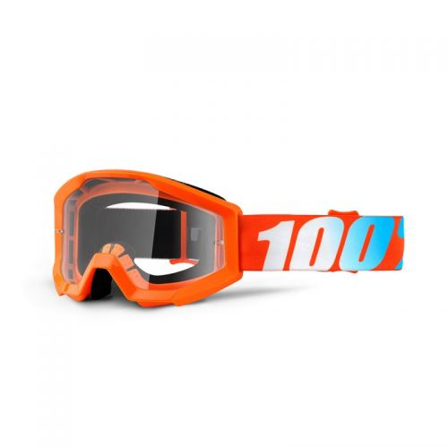 Masque 100% Strata Youth - Orange - Ecran Clair