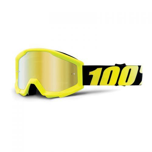 Masque 100% Strata Youth - Neon Yellow - Ecran Miroir Or