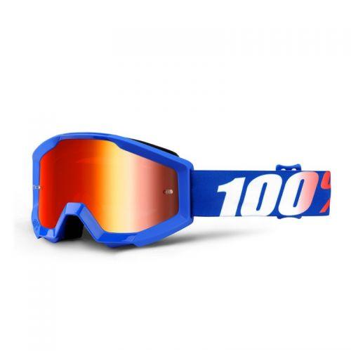 Masque 100% Strata Youth - Nation - Ecran Miroir Bleu