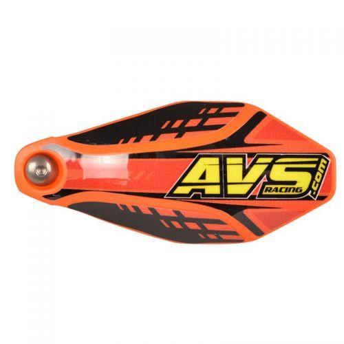 Protèges-Mains Avs Kit Deco (Patte Alu Avec Charnière) Orange-Noir