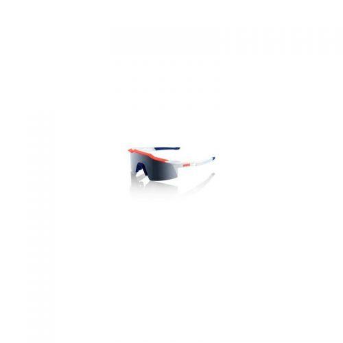 Lunettes 100% Speedcraft Short - Bleu/Blanc/Rouge - Ecran Fumé