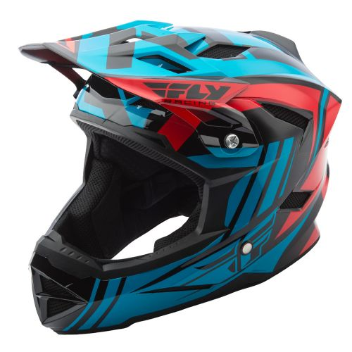 Casque Fly Default Teal/Rouge