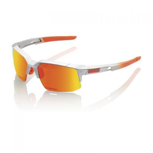 Lunettes 100% Speedcoupe - Gris/Orange - Ecran Hiper Miroir Rouge