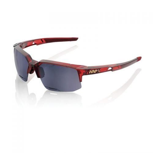 Lunettes 100% Speedcoupe - Rouge - Ecran Miroir Noir