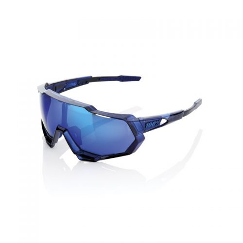 Lunettes 100% Speedtrap - Polished Translucent Blue (Bleu) - Ecran Miroir Bleu
