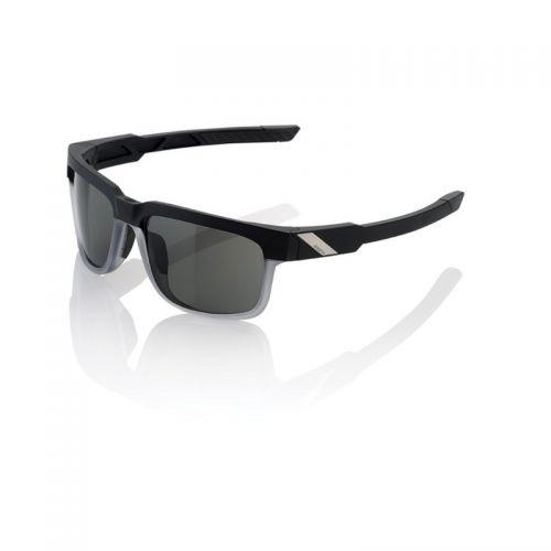 Lunettes 100% Type S - Noir/Transparent - Ecran Peakpolar Gris