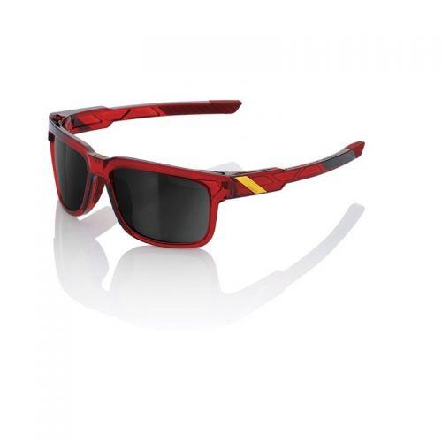 Lunettes 100% Type S - Rouge - Ecran Miroir Noir