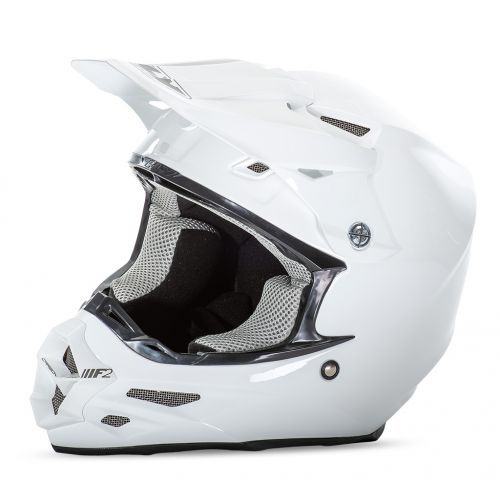 Casque Fly F2 Carbon Solids Blanc