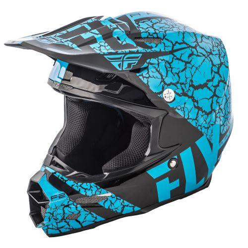 Casque Fly F2 Carbon Fracture Noir/Bleu