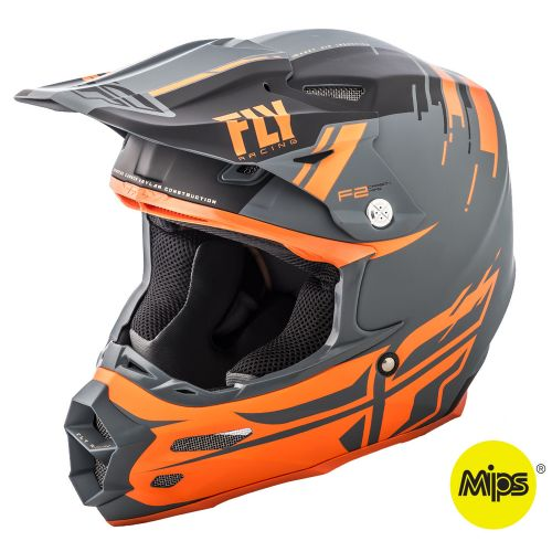 Casque Fly F2 Carbon Forge Mips Noir/Orange/Gris