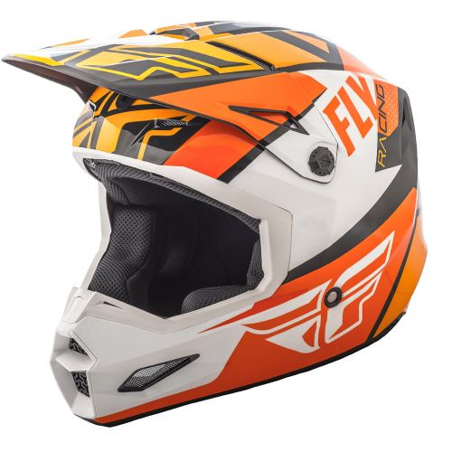 Casque Fly Elite Guild Noir/Orange/Blanc