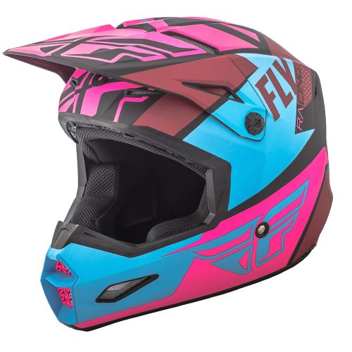 Casque Fly Elite Guild Noir/Rose/Bleu
