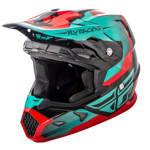 Casque Fly Toxin Original Rouge/Teal/Noir