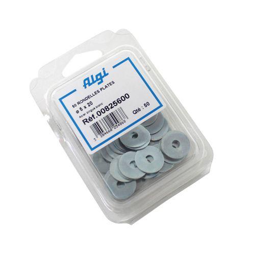 Rondelle Plate Acier Diam 5 X 22 (Blister De 50) (00825600)