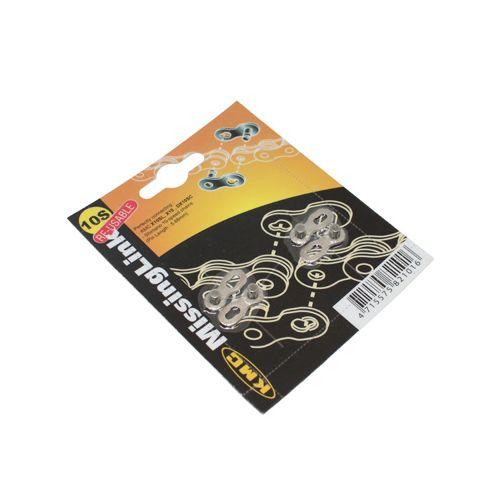 Connecteur De Chaine Velo 10V Kmc Compatible Shimano-Sram (2 Pieces)