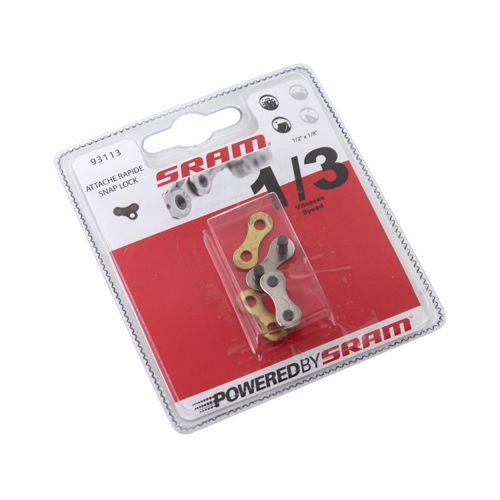 Connecteur De Chaine Velo 1-3V Sram Noir (2 Pieces)