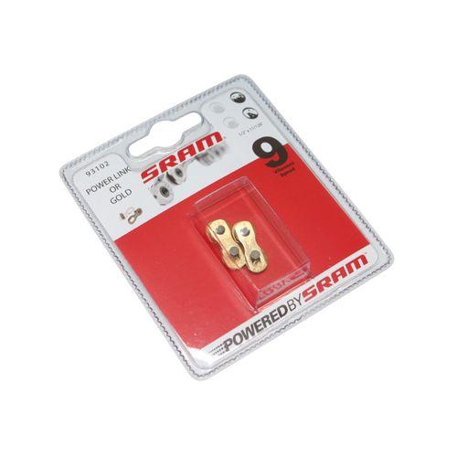 Connecteur De Chaine Velo 9V Sram Or (2 Pieces)