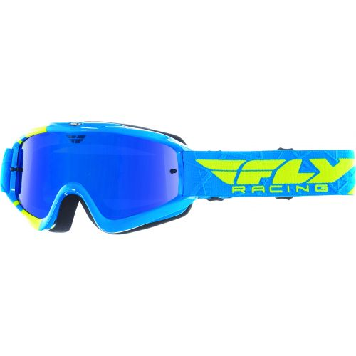 Masque Fly Zone Bleu/Hi-Vis Blue Ecran Chrome