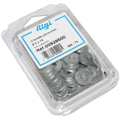 Rondelle Plate Acier Diam 6 X 18 (Blister De 74) (00828600)