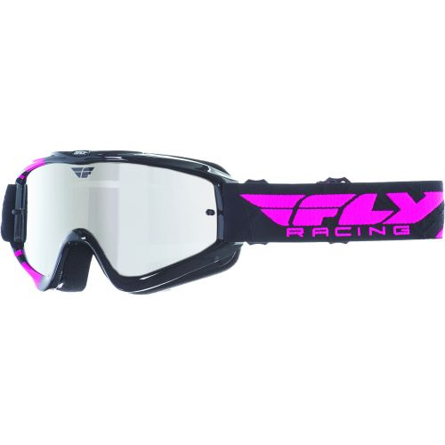 Masque Fly Zone Noir/Rose Ecran Chrome