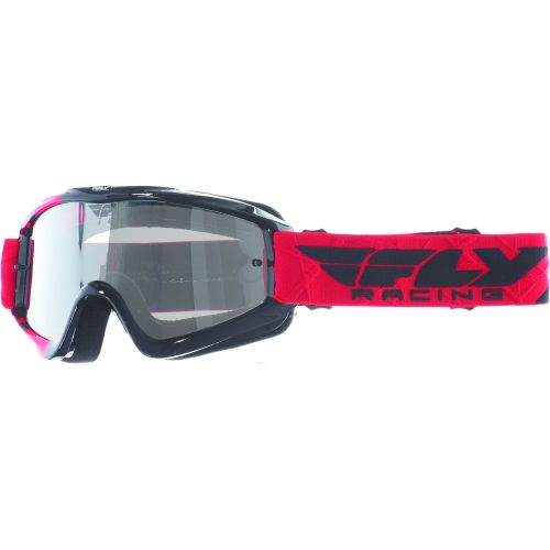 Masque Fly Zone Rouge/Noir Ecran Clear/Flash Chrome