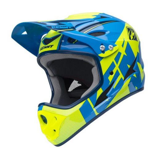 Casque Kenny Down Hill Cyan/Jaune Fluo