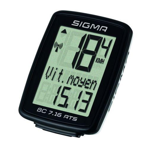 Compteur Sigma Bc 7.16 Ats Noir Sans Fil (7 Fonctions)