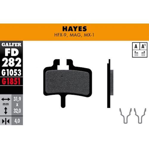 Plaquettes De Frein Galfer Hayes Hfx-9, Mag, Mx-1, Promax Mec Rouge Advanced