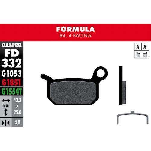 Plaquettes De Frein Galfer Formula B4, 4 Racing Vert Pro