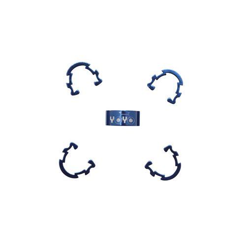 Clips De Gaine-Durite Alu Bleu (Boite De 5)