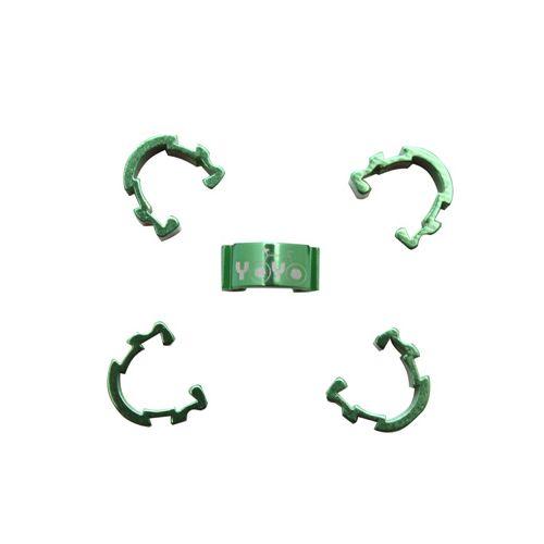 Clips De Gaine-Durite Alu Vert (Boite De 5)