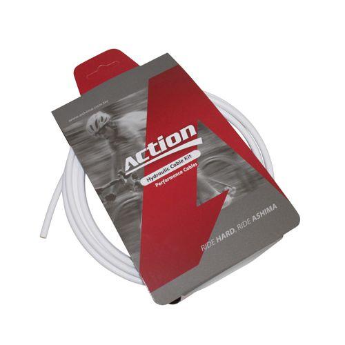 Durite De Frein Vtt Hydraulique Action Blanc 2.5M (Kit Avec Banjos)