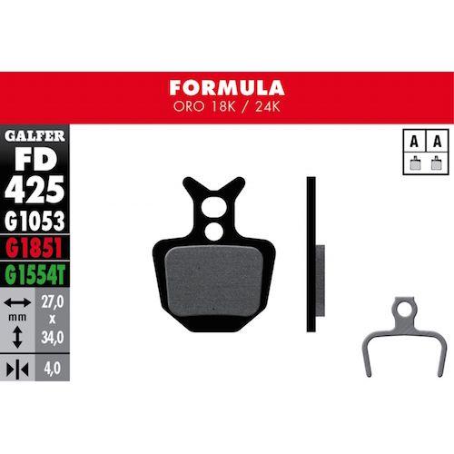 Plaquettes De Frein Galfer Formula Oro 18K/24K Noir Std