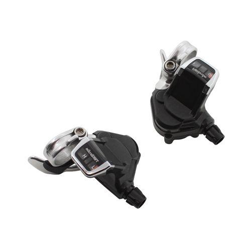 Manette Route P2R Pour Cintre Plat 10V Push-Pull Compatible Shimano Double-Triple (Paire)