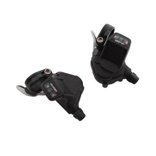 Manette Route P2R Pour Cintre Plat 9V Push-Pull Compatible Shimano Double-Triple (Paire)