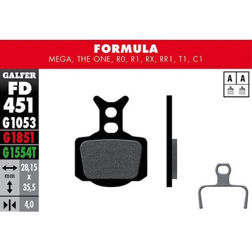 Plaquettes De Frein Galfer Formula Mega, The One, R0, R1, Rx, Rr1, T1, C1 Vert Pro