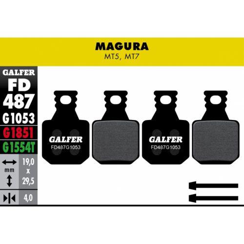 Plaquettes De Frein Galfer Magura Mt5 - Mt7 Std (4X)