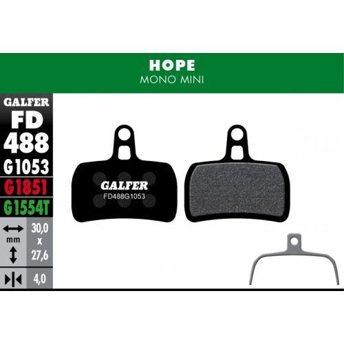 Plaquettes De Frein Galfer Hope Mono Mini Std