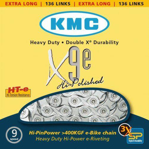 Chaine 9 Vitesses KMC Spécial Vae X9E Silver